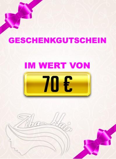 Geschenkgutschein 70 Euro